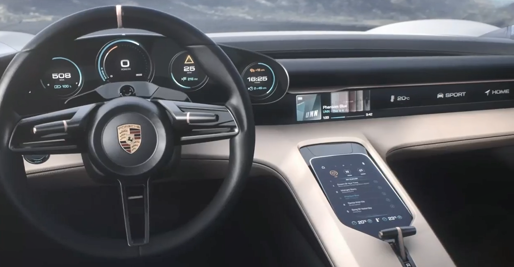 Porsche Mission E Interior Vehiclesuggest
