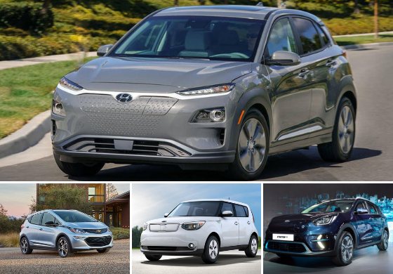 Hyundai Kona Electric Vs Chevrolet Bolt Ev Kia Niro Soul Vehiclesuggest