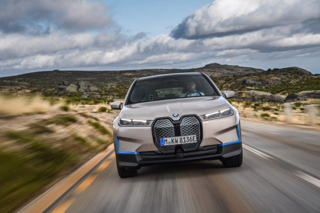 BMW iX Electric SUV Front Side