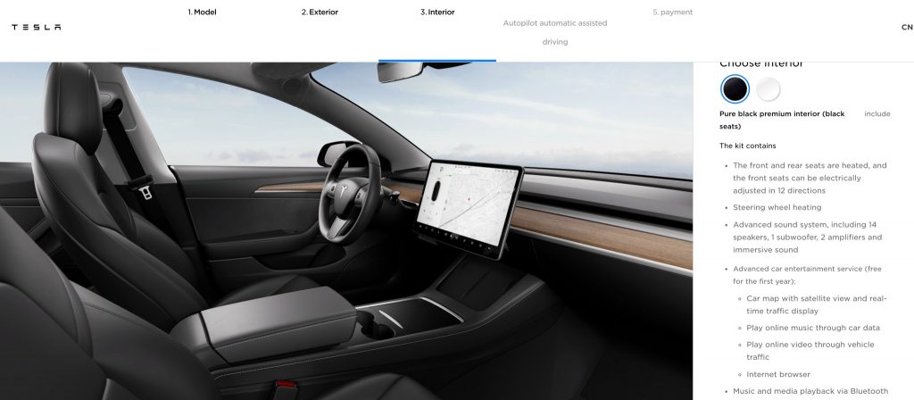Tesla Added New Design Accent and Heated Steering Wheel to Model 3