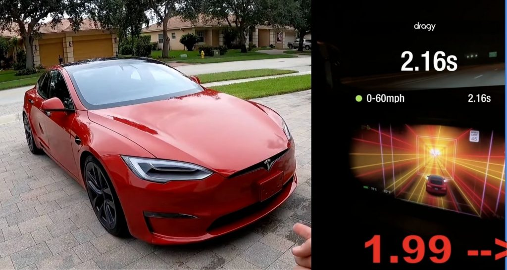Tesla Model S Plaid Achieved 0-60 mph in 1.99s on the street